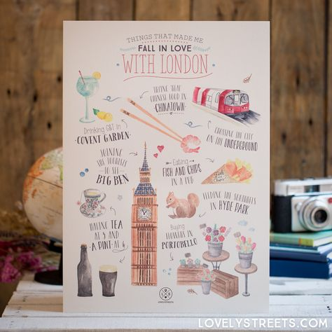 Morro de amor por isto Póster Lovely Streets - Things that made me fall in love with London (ENG)