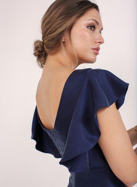 b2510feaa654b l'amour est bleu - Langes Abendkleid Adriana aus Cupro vegan   Avocadostore