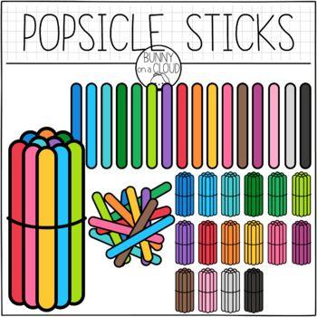 Popsicle Sticks Clipart By Bunny On A Cloud Math Manipulatives Math Clipart Math