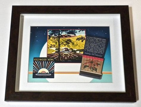 Hollywood Bowl Collectible Matchbook Art 1945 Hollywood Wall Decor