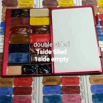 Watercolor Palette Travel Double Sided Paint Kit With 15 W Jane