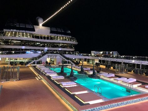 The Brand New Msc Bellissima In Pictures Pool At Night Cruise