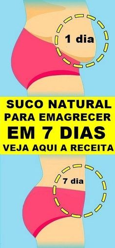 Suco Natural Para Emagrecer Em 7 Dias Confira A Receita Completa