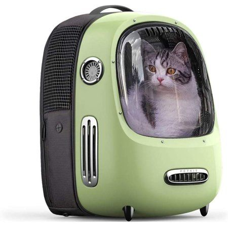 Petkit Breezy Pet Carrier Green Backpack For Cats And Small Dogs Great For Hiking And Outside Use Walmart Com Pet Backpack Carrier Pet Backpack Pet Carriers
