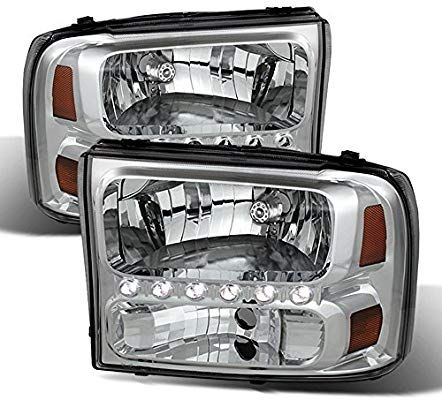 Amazon Com Acanii For 1999 2004 Ford F250 F350 F450 F550 Superduty Excursion Led Headlights Headlamps Driver Passenger Side In 2020 F250 Ford F250 Led Headlights