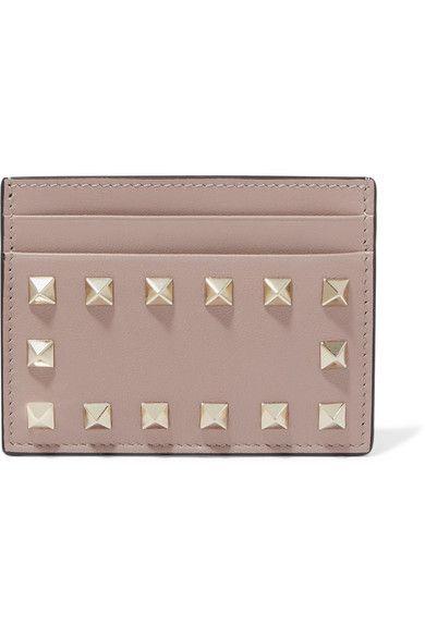 Valentino - Valentino Garavani The Rockstud Leather Cardholder - Baby pink
