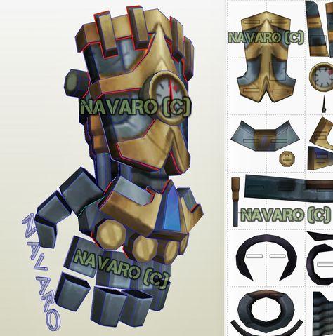 Vi Gauntlet Pritnable Template - Vi Gauntlet Cosplay - Lol Vi Pepakura - PDF