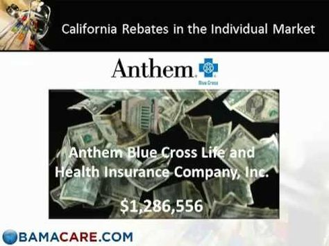 Affordable Care Act Rebate Amounts For Illinois Health Medical
