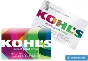 Kohls credit card application