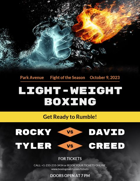 General Boxing Poster Template