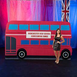 Cuban Party Backdrop Google Search London Theme Double Decker Bus London Theme Parties