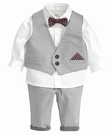 5cdbbbfa4673 ... little boy tuxedo outfit for wedding, party or any special occasion this  tuxedo set includes a white t-shirt, a matching tie, a blue-grey vest and  pants