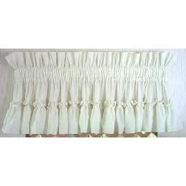 Cottage Ruffled Swag Set Ruffle Curtains Curtains Neutral