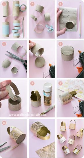 Dicas pra Mamãe: Bolsinha para lembrancinha feita de rolo de papel higiênico