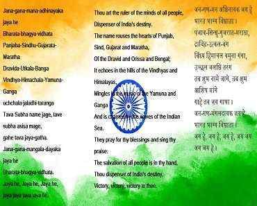 indian national anthem | sms in english | National anthem