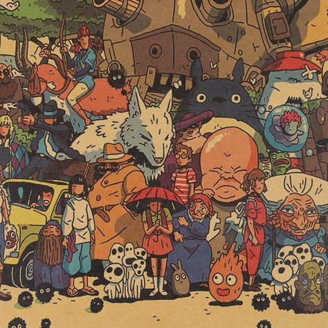 Studio Ghibli (Full Crew) - Graphic Print
