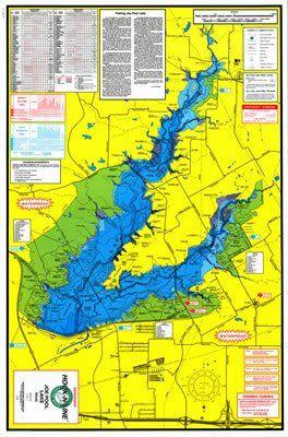 joe pool lake map F123 Joe Pool Lake Hard Copy Fishing Map With Gps Fishing joe pool lake map