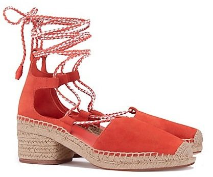 Tory Burch Positano Lace-Up Heelsed Espadrilles