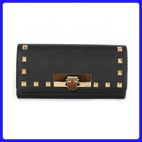 7868bc5cca2259 MICHAEL Michael Kors Callie Stud Carryall Womens Leather Wallet in Black  35H6GS8E3L BLACK - Wallets (*Amazon Partner-Link)