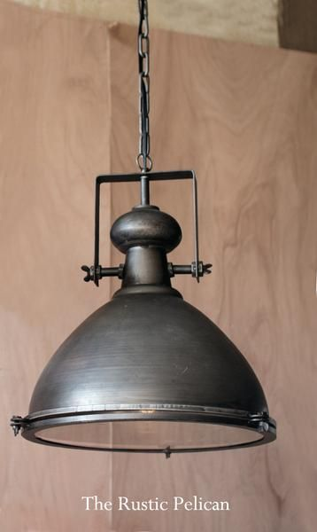 PLUG IN LIGHT Industrial new small textured gray round SIFTER tin hang light