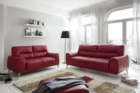 Modernes 3 Sitzer Sofa Mit Weichem Kunstlederbezug In Der