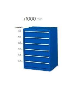 Cassettiere Per Ufficio Plastica.Cassettiera Metallo 6 Cassetti Porta Minuteria Mm 717x600x1000