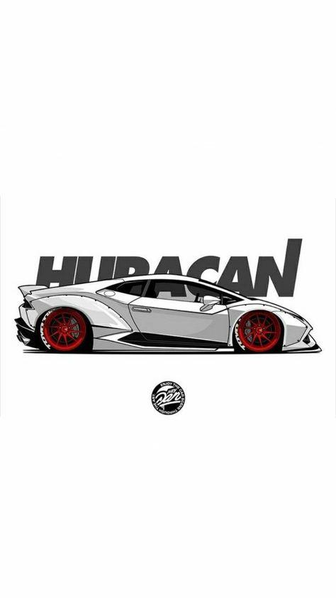 Lamborghini Huracan Ilustracion De Coches Coches Lamborghini