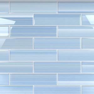 blue glass tile blue tile backsplash