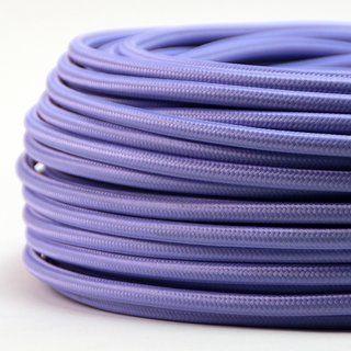 Textilkabel Stoffkabel Lila 3 Adrig 3x0 75 Gummischlauchleitung 3g 0 75 H03vv F Textilummantelt Textilkabel Textil Kabel