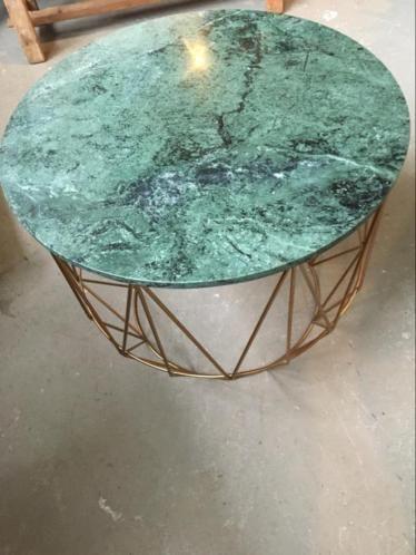 Mooie Design Bijzettafel.Mooie Grote Bijzettafel Met Marmeren Blad Tafels