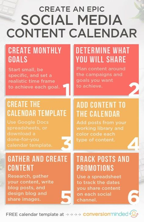 Social Media Calendar and Cheat Sheet for bloggers and entrepreneurs