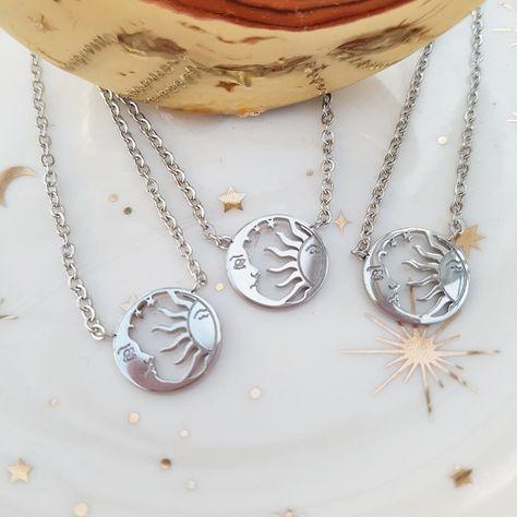 🌙✨ NEW! The Sun & The Moon Necklace✨🌙 ☀️ Tap to shop ☀️ #celestial #moonaesthetic #celestialjewelry #tarotcardoftheday #spookyseason #slowfashion #fortuneteller #moonmagic #witchyvibes #jewellerydesign #bohoaesthetic #witchyaesthetic #eclecticcharmuk #necklaceoftheday #earringsofinstagram #earringdesign #celestialtattoo #fashionjewellery #jewelleryoftheday #spaceearrings #fashioninspo #moonearrings #slowfashion #spaceaesthetic #witchythings #bohojewellery #celestialearrings #spacelovers #sta