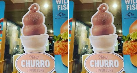 If you're not a fan of over-the-top churro-themed treats, Dairy Queen's got a more simplified offering in the form of their Churro Dipped Cone.