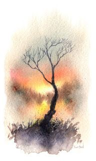 Little Watercolor Trees by Sean Seal