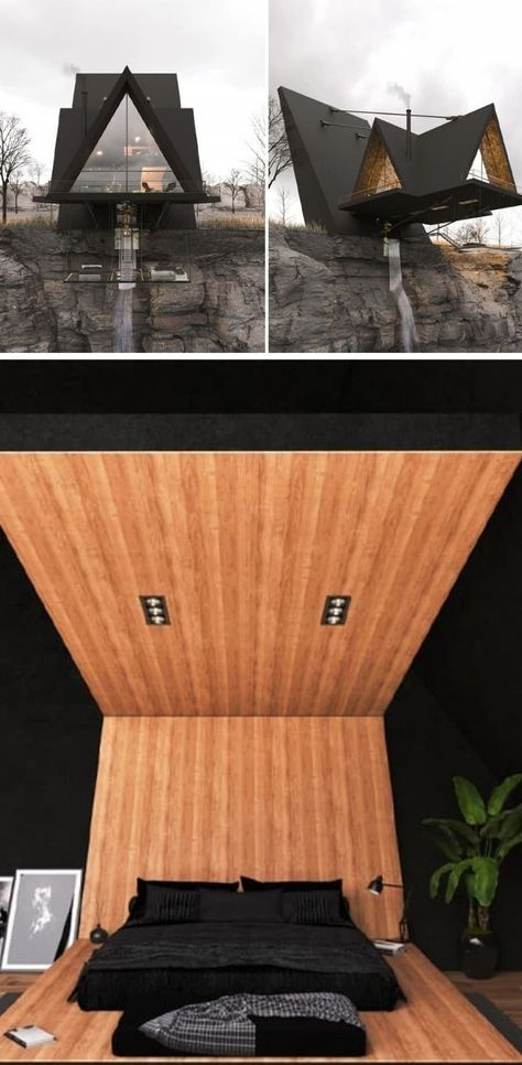 This daredevil hideaway cabin defies gravity using five support cables for the ultimate thrilling ex