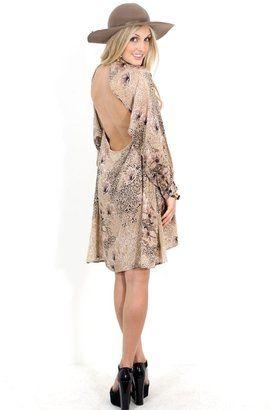 0a7d9a60df1 ShopStyle  Mink Pink Hedonist Backless Shirt Dress