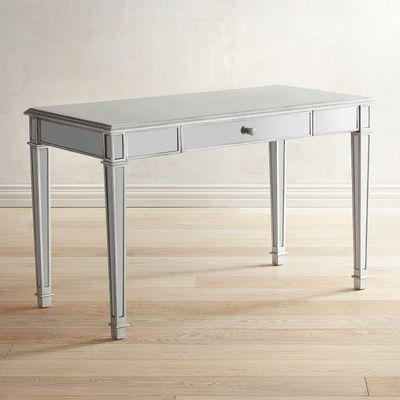 Hayworth Mirrored Silver Desk Silver Desk Affordable Furniture Mirrored Furniture