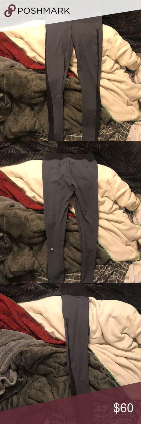 e10077d7ee0c93 size 4 lululemon leggings black and grey never worn lulu leggings size 4.  black and