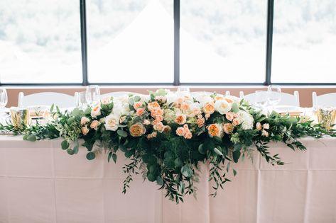 Calgary Wedding Flowers 5 Foot Long Head Table Arrangement With