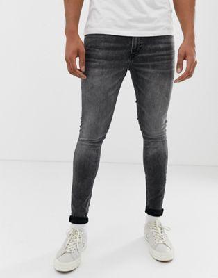 Esaurimento nervoso ricevente manager  Jack & Jones skinny fit jeans in washed black | ASOS | Super skinny jeans,  Tight jeans men, Skinny jeans men