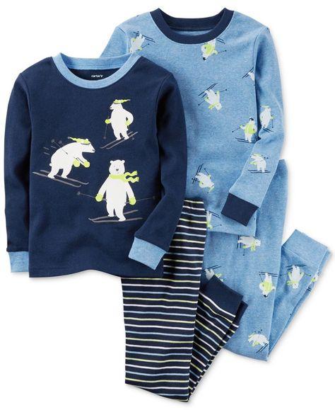 3d11f4495 Carter s 4-Pc. Skiing Polar Bear Pajama Set