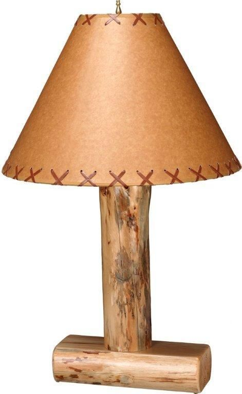 Amish Rustic Lodge Pole Pine Lamp A Warm And Rustic Lighting Option Made With Genuine Pine Wood Lamp Rustic Lighting Rustic Lamps
