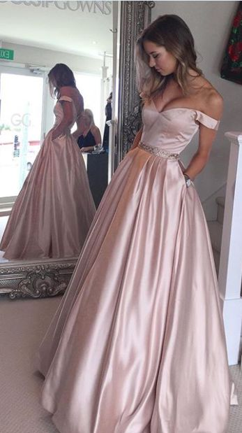 Nude and Blush Gowns | Strapless prom dresses, Long prom dresses ...