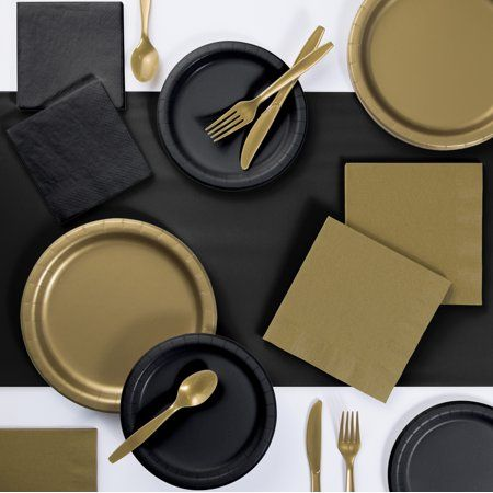 Party Occasions In 2020 Black Gold Party Gold Party Black