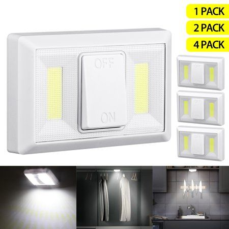 Tsv Battery Operated Led Night Lights Cob Led Cordless Light Switch Under Cabinet Shelf Closet Nightlight Kitc Led Night Light Night Light Under Cabinet