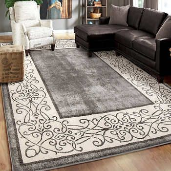 Easy Living Indoor Outdoor 2 Pack Rug Set Cayden Gray Living