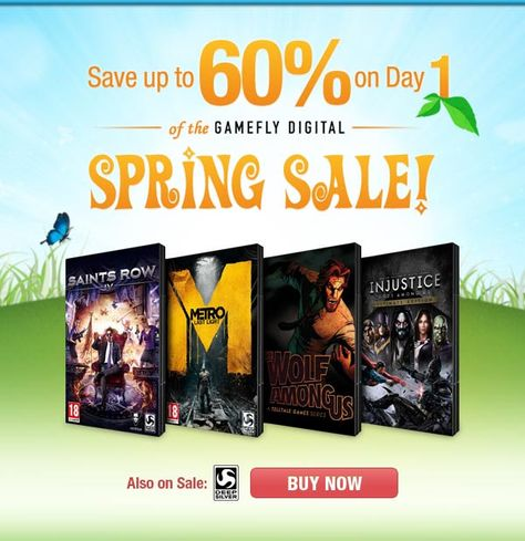 Gamefly Spring Sale Discounts Steam Games Like Injustice, Metro, Saints Row And More  http://gg3.be/2014/03/10/gamefly-spring-sale-discounts-steam-games-like-injustice-metro-saints-row-and-more/