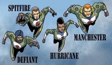 Spitfire Hurricane Defiant And Manchester By Gaston25 Superhero Names Defiant Comic Heroes