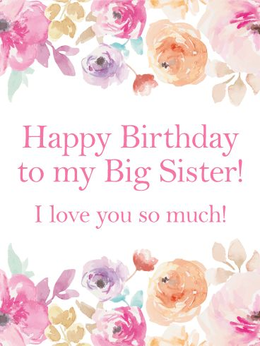 This Is A Birthday Card That Elegant Without Seeming Too Fancy For Your Older Sisters