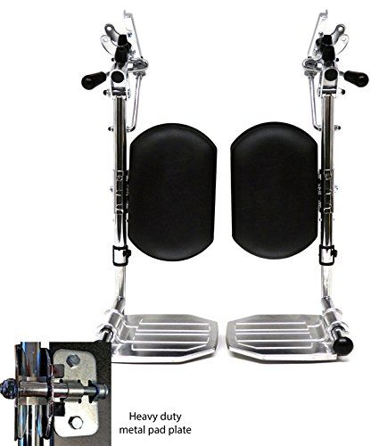 Heavy Duty Chrome Wheelchair Legrests With Aluminum Footplates